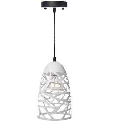 Montross 1-Light Mini Pendant Shade Color: White