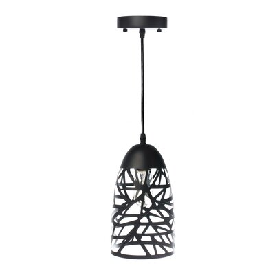 Montross 1-Light Mini Pendant Shade Color: Black