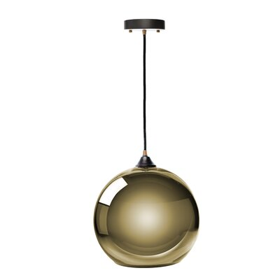 Copeland Sphere 1-Light Globe Pendant Shade Color: Gold, Size: Large