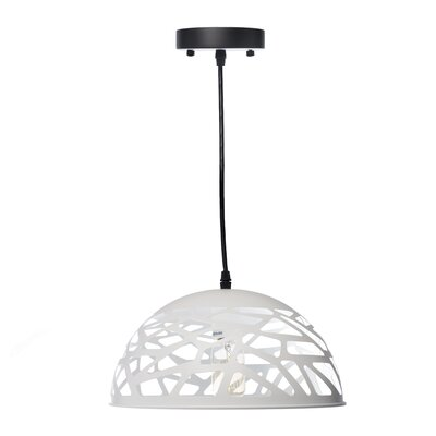 Montross Oval 1-Light Inverted Pendant Shade Color: White