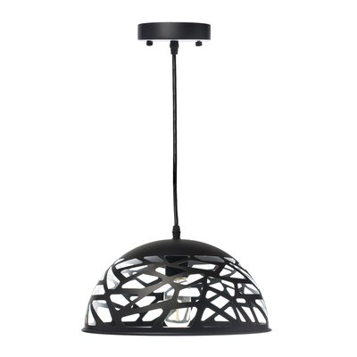 Montross Oval 1-Light Inverted Pendant Shade Color: Black