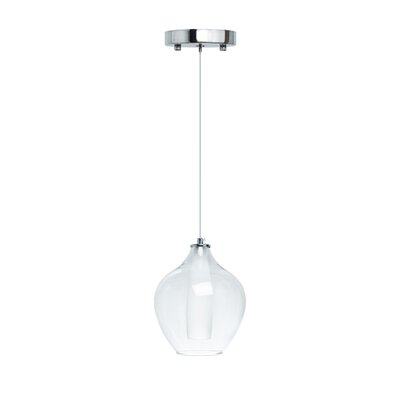 Hollister Modern Glass Dual Tone 1-Light LED Mini Pendant Size: Large