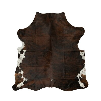Brownlow Genuine Cowhide Dark Brown Area Rug