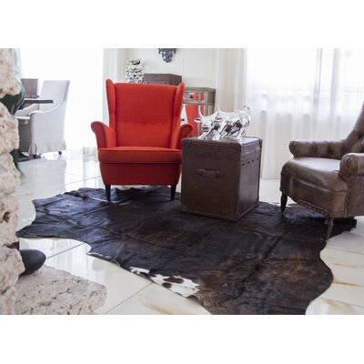 Lakeville Genuine Cowhide Black Area Rug