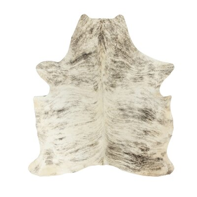Brownlow Genuine Cowhide Gray Area Rug