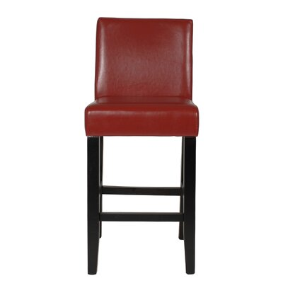 Citylight 25 Bar Stool Upholstery: Red