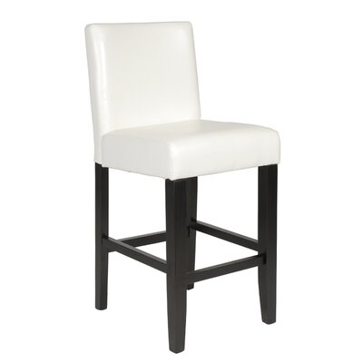Citylight 25 Bar Stool Upholstery: White