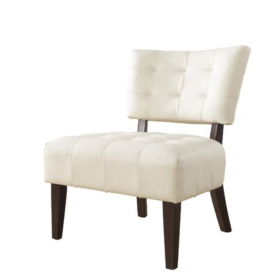 Anjotiya Slipper Chair Upholstery: Ivory