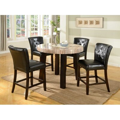 Zanic 5 Piece Counter Height Dining Set
