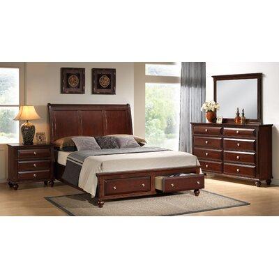 Concord Storage Panel 4 Piece Bedroom Set Size: King