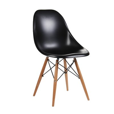 Citytalk Solid Wood Dining Chair Upholstery: Black