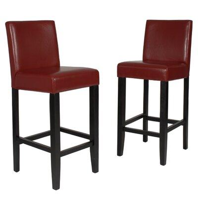 Citylight 29 Bar Stool Upholstery: Red