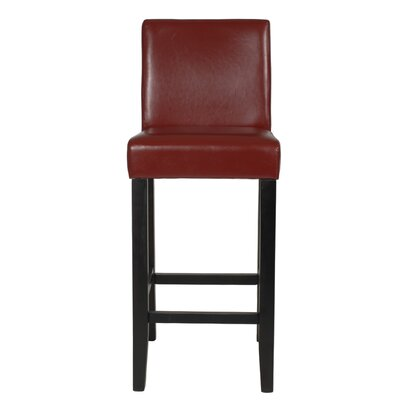 Citylight 29 inch Bar Stool Upholstery: Red