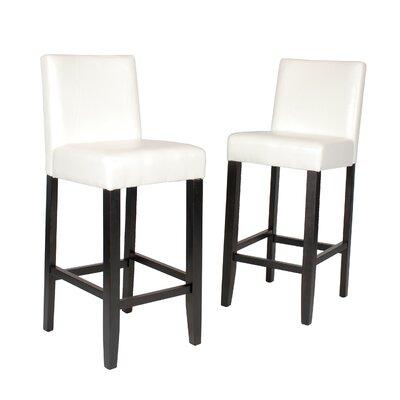 Citylight 29 Bar Stool Upholstery: White