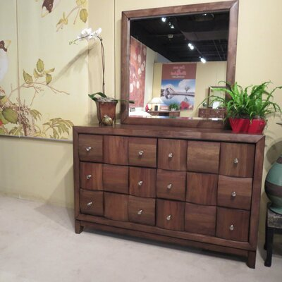 Calais 6 Drawer Dresser and Mirror