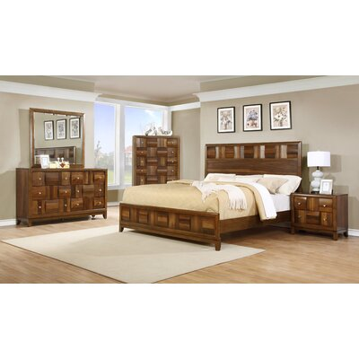 Calais Panel 5 Piece Bedroom Set Size: King
