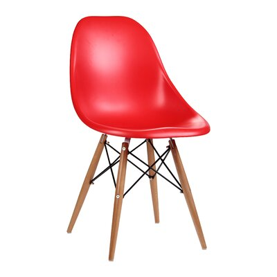 Citytalk Solid Wood Dining Chair Upholstery: Red