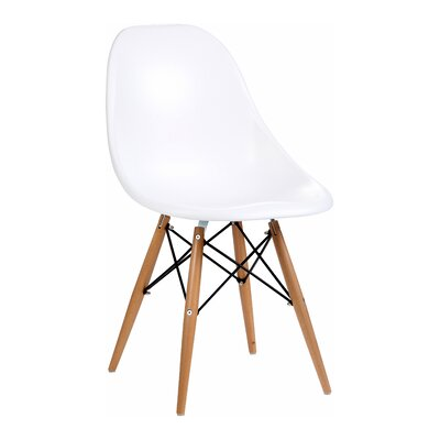 Citytalk Solid Wood Dining Chair Upholstery: White