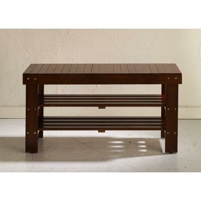 Solid Wood Entryway Bench by Roundhill Furniture