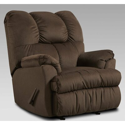 Moab Manual Recliner Upholstery: Chocolate