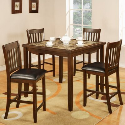 Zoho 5 Piece Counter Height Dining Set
