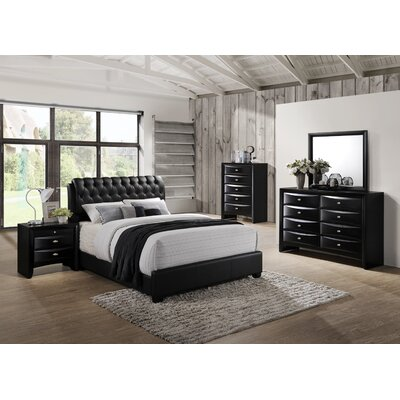 Blemerey 5 Piece Bedroom Set Size: Queen