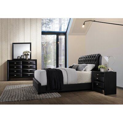 Blemerey 4 Piece Bedroom Set Size: King