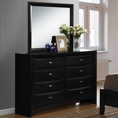 Blemerey 8 Drawer Dresser with Mirror