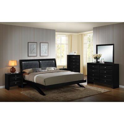 Blemerey 6 Piece Platform Bedroom Set Size: King