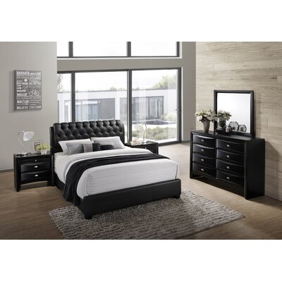 Blemerey 5 Piece Bedroom Set Size: King
