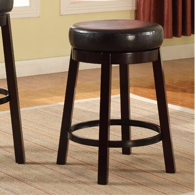 24 Swivel Bar Stool Color: Brown