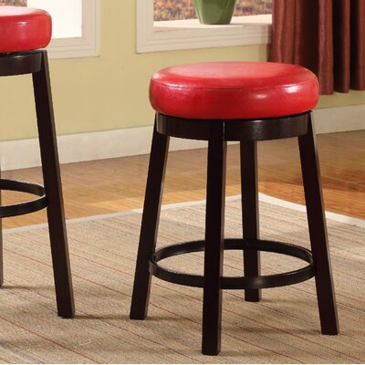 24 Swivel Bar Stool Color: Red