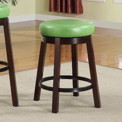 24 Swivel Bar Stool Color: Green