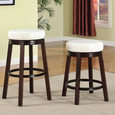 Swivel Bar Stool Seat Color: White