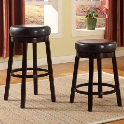 Swivel Bar Stool Seat Color: Brown