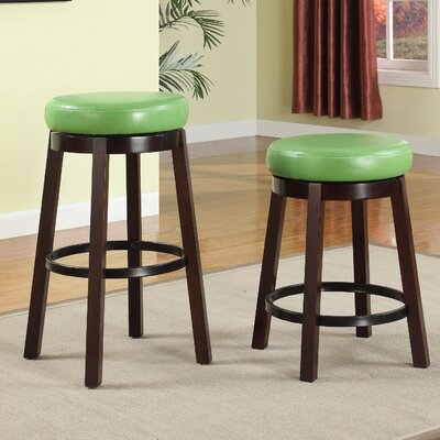 Swivel Bar Stool Seat Color: Green