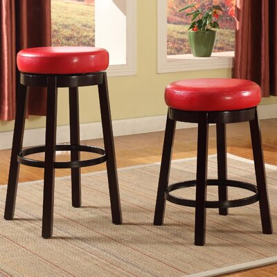Swivel Bar Stool Seat Color: Red