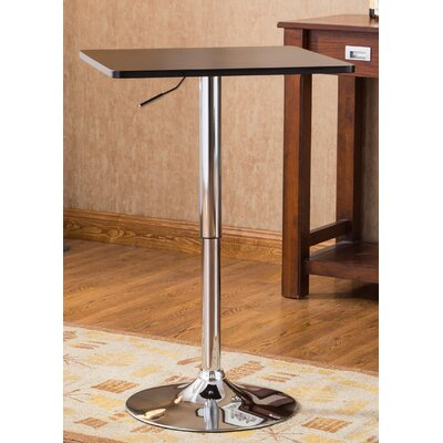 Baxton Adjustable Height Pub Table Finish: Black