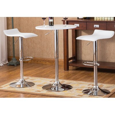 Baxton 3 Piece Pub Table Set Finish: White
