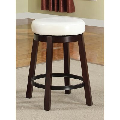 24 Swivel Bar Stool Color: White