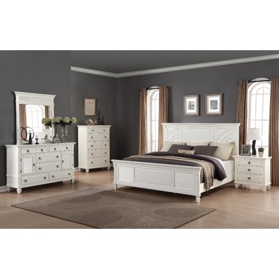 Regitina Panel 5 Piece Bedroom Set