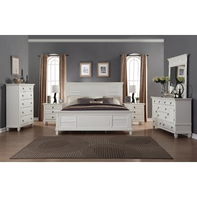 Regitina Panel 6 Piece Bedroom Set