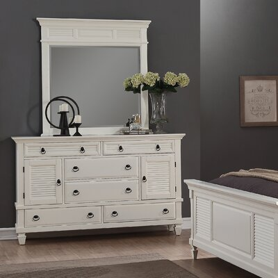 Regitina 6 Drawer Dresser with Mirror