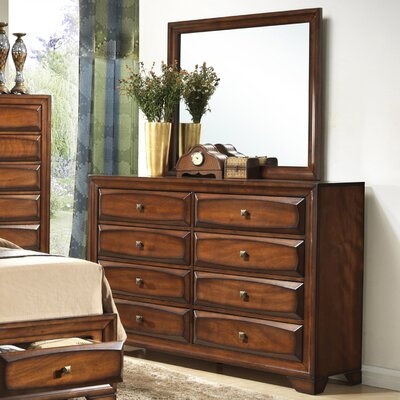 Oakland 8 Drawer Dresser with Mirror