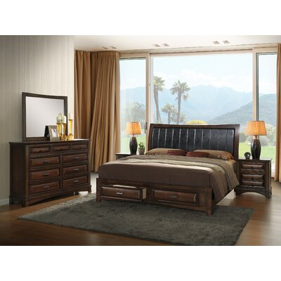 Broval Upholstered Storage Platform Configurable Bedroom Set