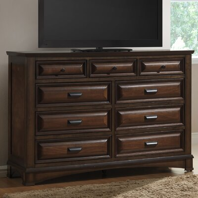 Broval 6 Drawer Dresser with Mirror