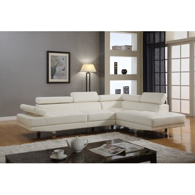Dimitri Sectional Upholstery: White