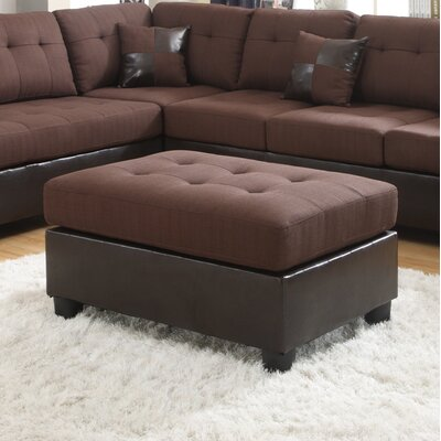 Ellus Ottoman Finish: Brown