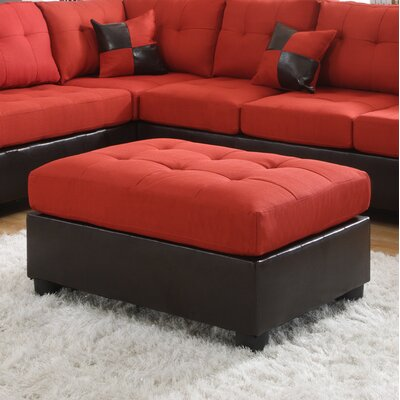 Ellus Cocktail Ottoman Finish: Red
