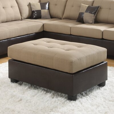 Ellus Cocktail Ottoman Finish: Tan